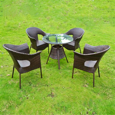 Garden Table Chairs by Webetop Modern Outdoor Garden Table Chair Set Outdoor