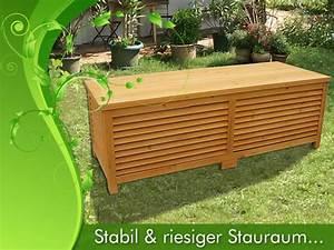 Auflagenbox Holz Wasserdicht : holz auflagenbox kissenbox gartenbox gartentruhe box auflagen truhe holztruhe ebay ~ Whattoseeinmadrid.com Haus und Dekorationen