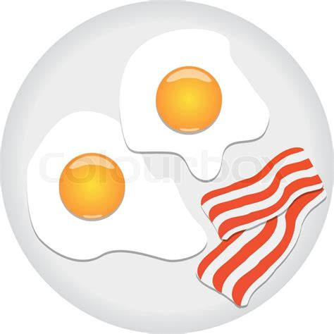 restaurant cuisine 9 fried eggs and bacon on plate stock vector colourbox
