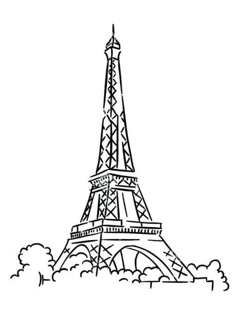 eiffel tower drawing outline  getdrawings