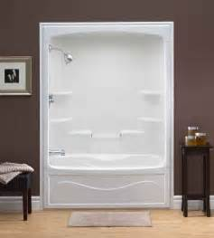 mirolin liberty 60 inch 1 piece acrylic tub and shower