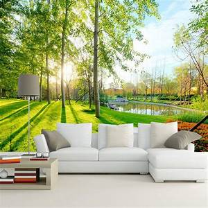 Custom Photo Wallpaper 3d Pastoral Landscape Mural Sofa ...
