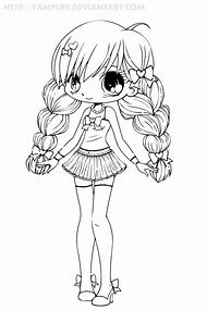 Best Kawaii Girl Coloring Pages
