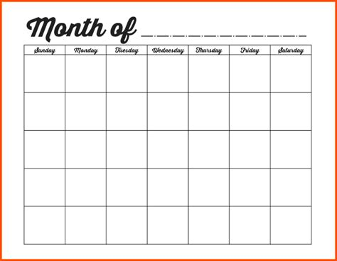 Monthly Calendar Template The Gallery For Gt Weekly Calendar Template Monday Friday