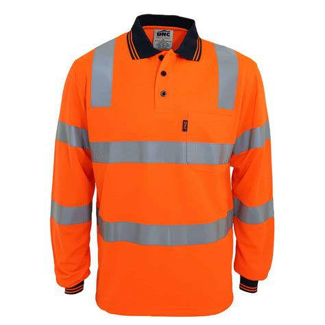 HiVis Biomotion Tapped Long Sleeve Polo - A & M Workwear