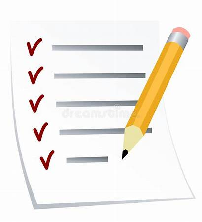 Liste Todo Lista Lijst Checklist Clipart Het
