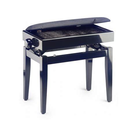 banquette piano avec coffre de rangement stagg pb55