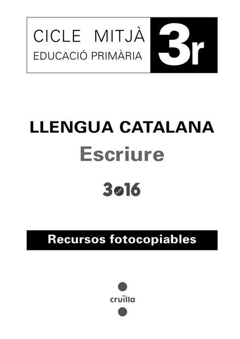 foto de Cuaderno ejercicios de lengua 3r ep catalán