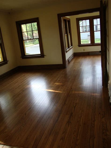wood trim with hardwood floors and lighter not