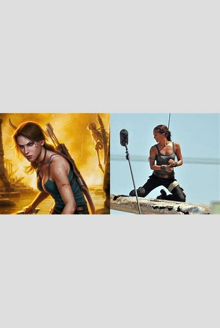 Alicia Vikander as Lara Croft in the first Tomb Raider set pictures