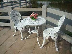3 Piece Hot Sale Cast Aluminum Metal Patio Furniture