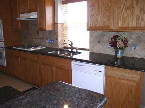 Brown Granite Countertops With Backsplash : Best 29 Backsplash For My Kitchen Make Over Images On