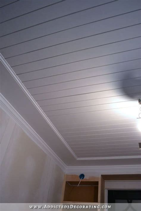 install  wood plank ceiling diy decorating