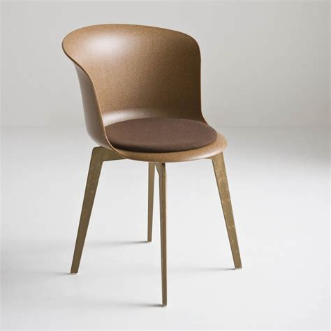 chaise en polycarbonate epica eco design chair in recycled wood plastic material also swivel available in different