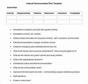 Internal communication plan template 3 fee word pdf for Internal comms strategy template