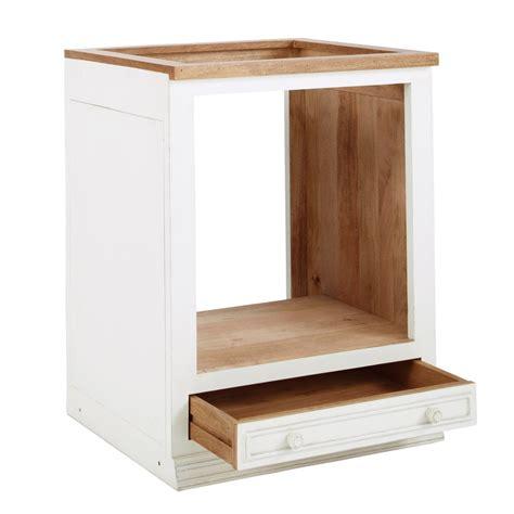 meuble cuisine pour plaque de cuisson et four meuble bas de cuisine pour four en manguier ivoire l 70 cm