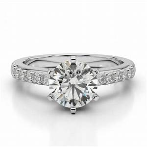 moissanite diamond solitaire wedding ring engagement With cyber monday deals on wedding rings