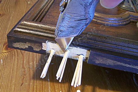 how to fix stripped in wood door screws loose