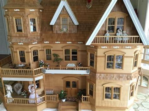 queen anne dollhouse assembled sold dollhouse junction