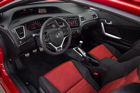 Honda Upholstery by 2014 Honda Civic Si Coupe Test Motor Trend