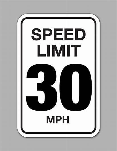 Speed Limit Mph Sign Traffic Signs