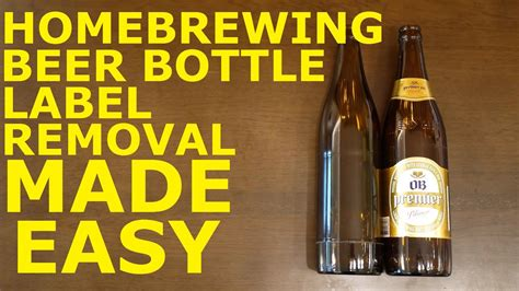 homebrew easy beer bottle label removal  oxyclean