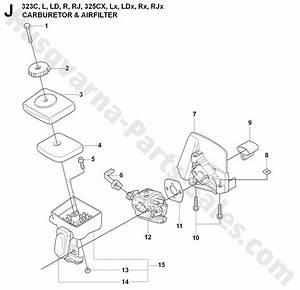 323r Husqvarna Brushcutter Carburetor  U0026 Air Filter Parts