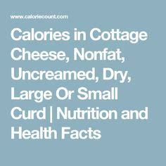calories in cottage cheese best cottage cheese small or large curd recipe on