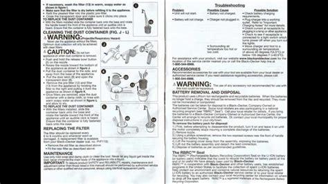 black decker hand vac model bdhplbdhpl user manual scans youtube