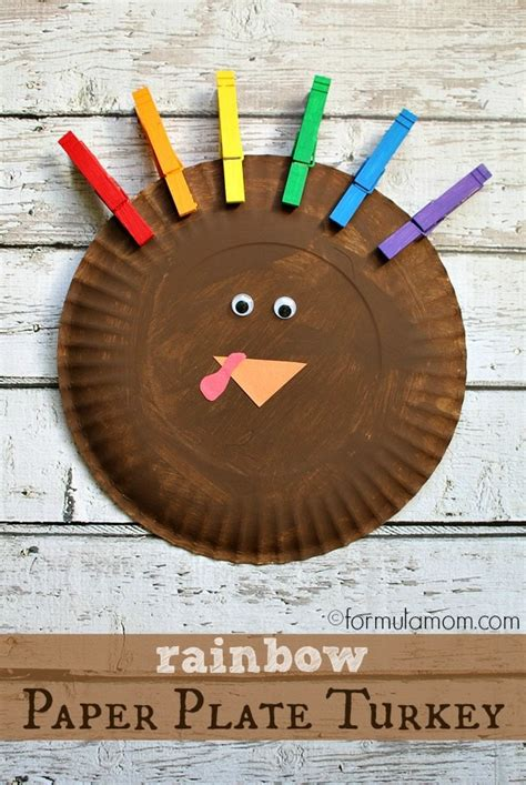 simple paper turkey craft rainbow paper plate turkey craft 5430