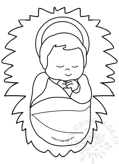 baby jesus   manger image printable coloring page