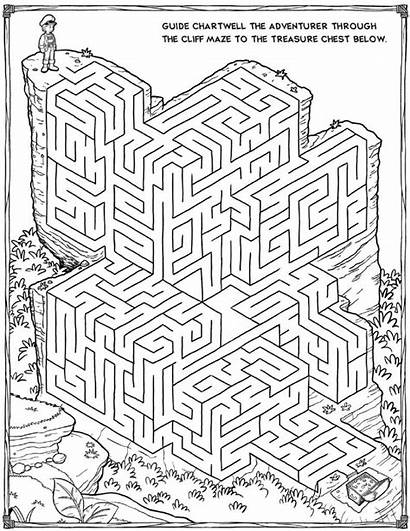 Printable Mazes 3d Coloring Pages