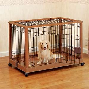 mobile pet pen 940 dog cat crates puppy playpen beds With dog crate and pen