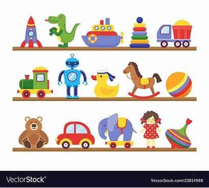 Toys Cartoon Toy Vector Shopping Shelves
