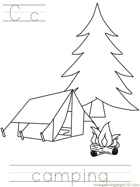 bposter camping coloring page   coloring pages coloringpagescom