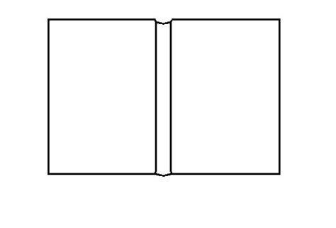 Cartoon Blank Book Cover Background