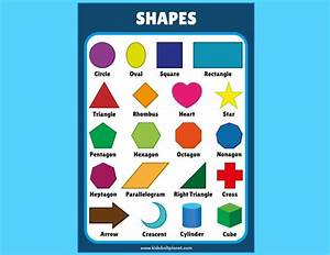 Geometric Shapes Learning Chart Free Printable