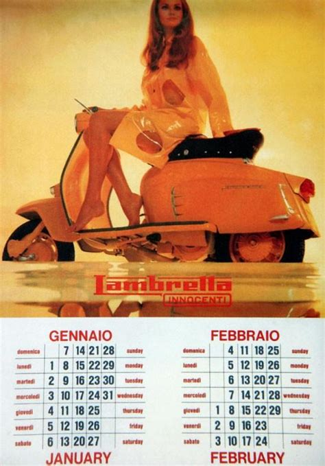 vintage everyday  lambretta calendar