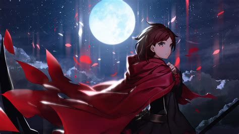 Rwby Moon Anime Girls Night Wallpaper Anime