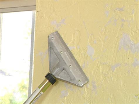 removal of popcorn ceiling how to remove texture from a wall and get a smooth look