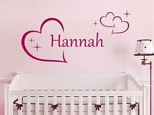 Wandtattoo Baby Mädchen : wandtattoo name mit herzen f r m dchen wandtattoo de ~ Markanthonyermac.com Haus und Dekorationen