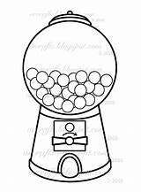 Coloring Gum Gumball Machine Printable Getcolorings sketch template