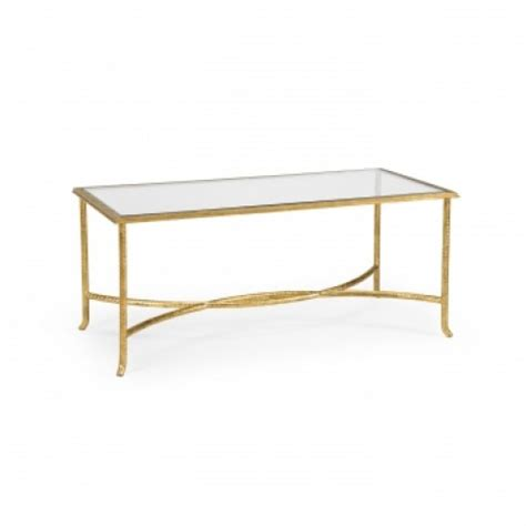 Hand Finished Gold Coffee Table Look for Less