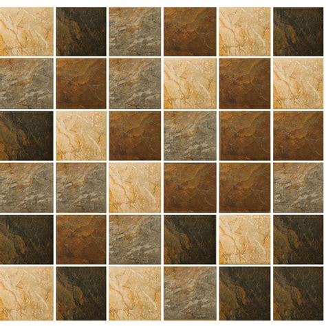 Thinset For Porcelain Wall Tile by Shop Emser Bombay Mosaic Blend Squares Mosaic