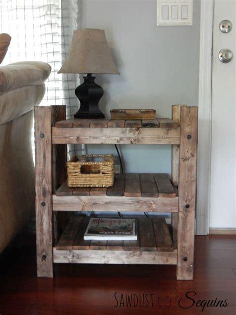 diy wood end table hometalk arhaus inspired diy end table