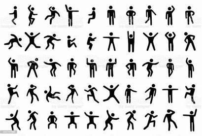 Stick Figure Vector Illustration Bending Adult Person