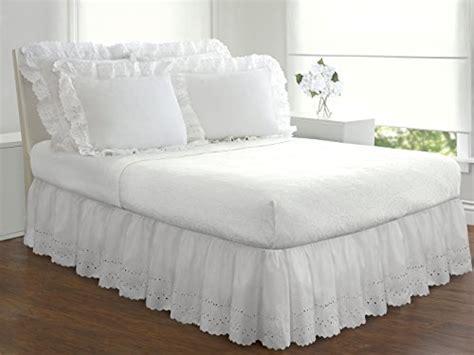 eyelet ruffled bedskirt ruffled bedding  gathered