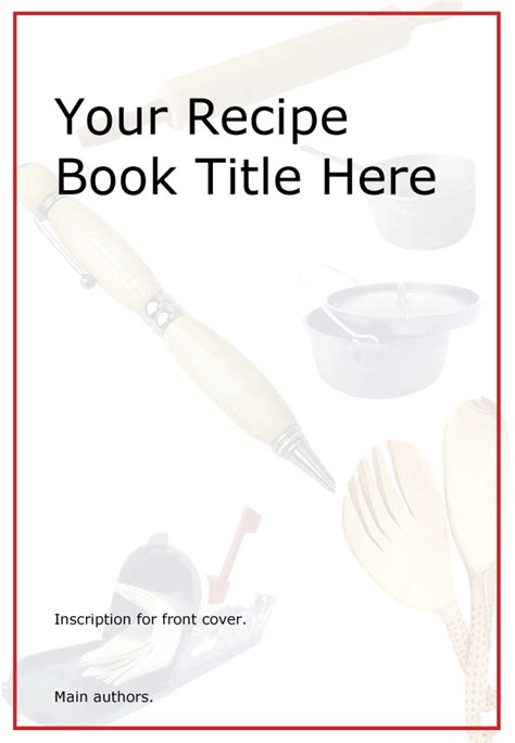 cookbook cover designs templates pictures front cover design template