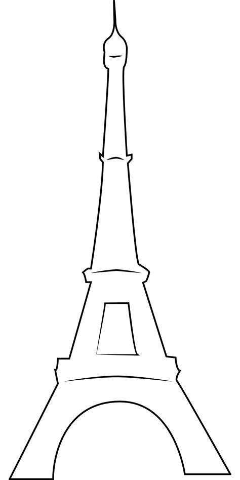 eiffel tower primitive outline icon  image