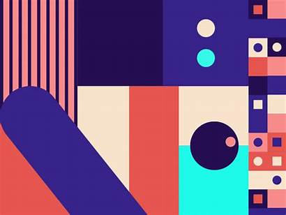 Animated Pattern Animation Gifs Dribbble Shapes Motion